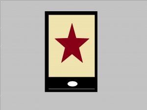 Smartphone mit Stern